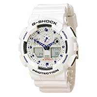 Casio G-Shock GA100A-7A X-Large - Reloj deportivo de resina blanca para hombres