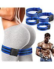 Vinsot 4 Pieces Occlusion Bands Blood Flow Restriction Exercise Bands Blood Flow Muscle Training Straps BFR Bundle Bands Fabric Bands for Arms Legs Glutes Help Gain Muscle