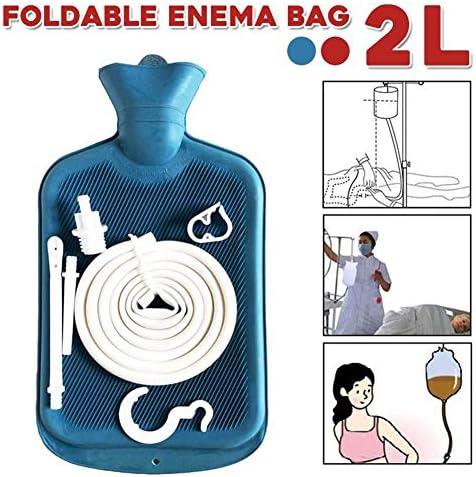 LWX 2L Klistierbeutel Faltbare mehrfachverwendbare Silikagel-Kaffee Wasserdarmreinigung Enteroclysm Entgiftetes Darm-Taschen Vaginal Washing Enema