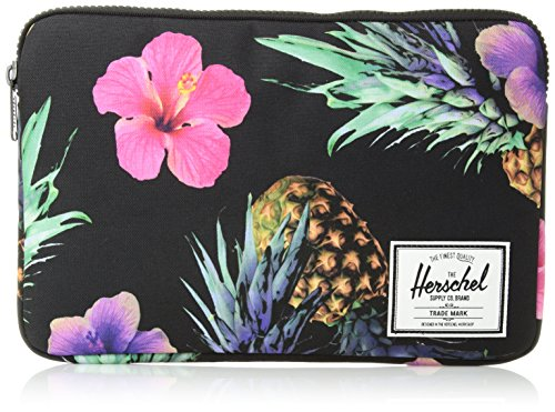Herschel Supply Co. Unisex-Adult's Anchor Sleeve for 12 MacBook, black pineapple, One Size