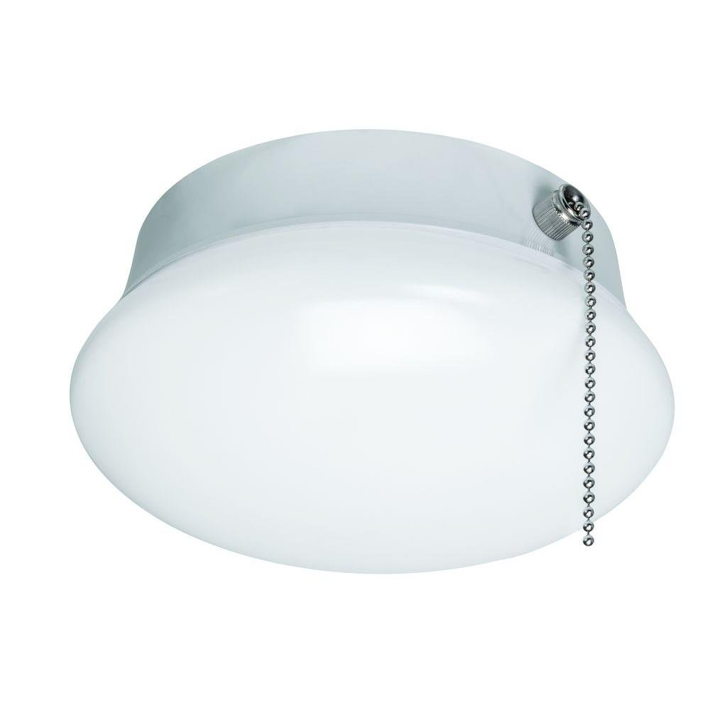 7 In Bright White Led Ceiling Round Flushmount Easy Light With Pull Chain Com
