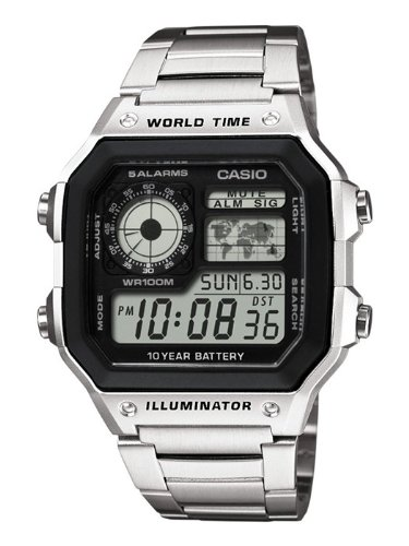 Casio Collection Gents Watch stainless Steel Watch Digital AE-1200WHD-1AVEF