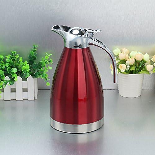 humefor 2L Doble pared jarra de vacío eléctrica cafetera termo de acero inoxidable rosso: Amazon.es: Hogar