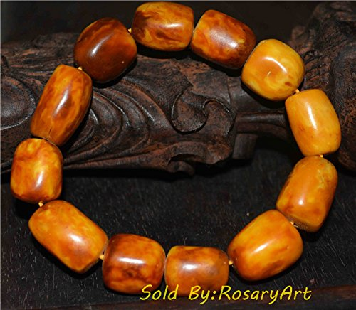 Antique Amber Beads - 2