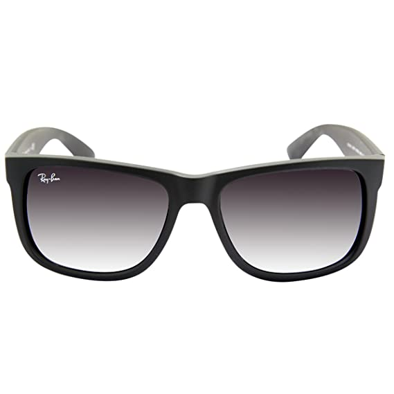 f6f04ca4a3 RAY BAN JUSTIN RB4165 601 8G Sunglasses - Black  Amazon.co.uk  Clothing