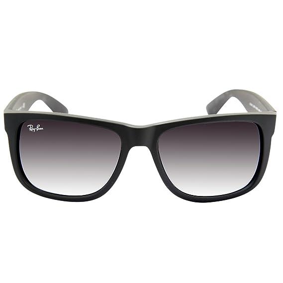 f2f117c7931 RAY BAN JUSTIN RB4165 601 8G Sunglasses - Black  Amazon.co.uk  Clothing