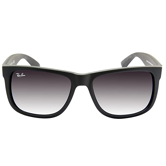 RAY BAN JUSTIN RB4165 601/8G Gafas de Sol - Black: Amazon.es ...