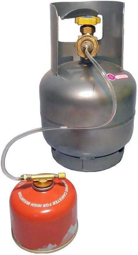 JBNS Campingkocher Adapter Gasumwandlungskopfadapter F/ür Butan Kanister Zu Schraube Gaskartusche Kolben Adapter 1pc