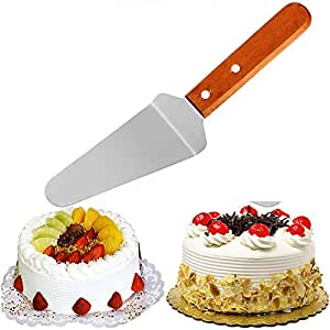 Bihood Wedding Cake Knife and Server Enterprise Pizza Cutter Industrial Pizza Cutter Pizza Cutter Fork Server Slice Serve Pizza Pie Cake Serrated Spatula Serves Made of Expensive 403 Stainless Steel