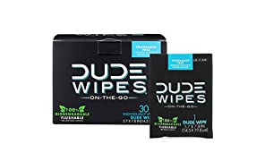 DUDE Wipes, Flushable Single Moist, with Aloe Vera, 30 Count
