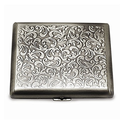 (Jewelry Best Seller Silver-tone (Holds 20) Cigarette/Card Case)