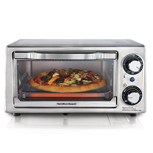 Hamilton Beach 4 Slice Energy-Saving Toaster Oven, Stainless Steel | 31138 Hamilton Beach Toaster And Convection Ovens