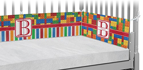 Building Blocks Crib Bumper Pads (Personalized) by RNK Shops
