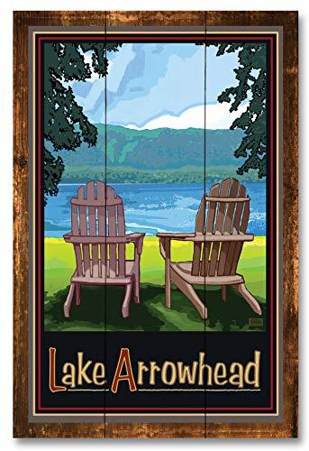 Lake Arrowhead Rustic Wood Art Print by Joanne Kollman (12