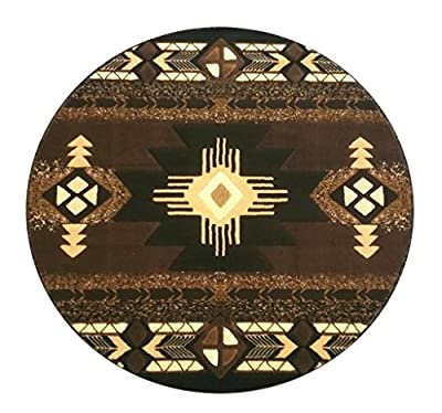 South West Native American Area Rug Design C318 Chocolate