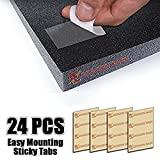 Dragon Dash Mounting Tabs Double Sided Transparent Easy Acoustic Foam Adhesive Tapes (24 Pieces)