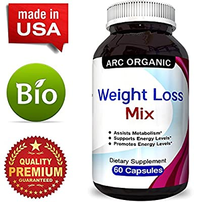 Garcinia Cambogia Blend with Pure Raspberry Ketones Green Coffee Bean and Antioxidant Green Tea for Weight Loss Metabolism Boost Natural Fat Burning Dietary Supplement for Women & Men by Arc Organic