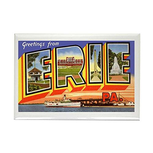 (CafePress Erie Pennsylvania Greetings Rectangle Magnet, 2