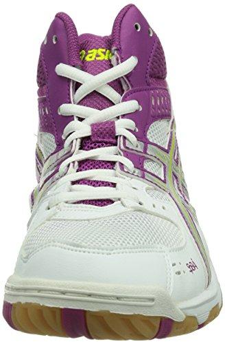 Asics Gel-task Mt - Zapatillas de voleibol Mujer Bianco (White/Silver/Fuchsia 0193)