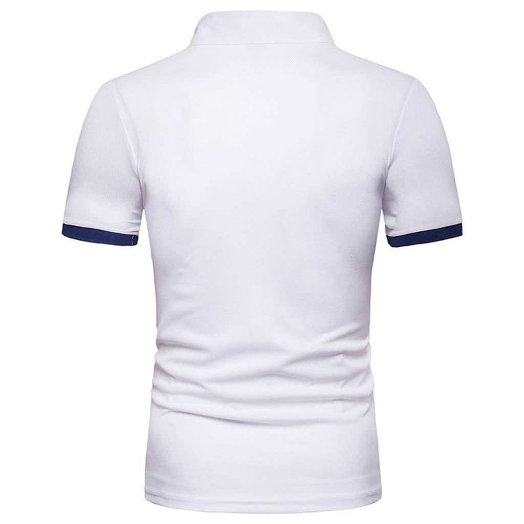 Celucke Basic Polohemd Poloshirt Herren Einfarbig Kurzarm Reiner Baumwolle T Shirt M/änner Freizeit Polohemden Polo Hemd Kurzarmhemd Sweatshirt Herrenhemden Marken Kurzarmshirt