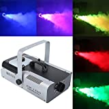 TC-Home 1500 Watt Smoke Fog Machine 9 LED Lights Remote Control DJ Party Stage Fogger