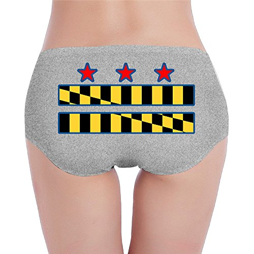 TAYC DC MD VA DMV Flag Ladies Knickers Ash S