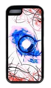 Fashion Style With Digital Art- Funky Nad Colorful Anti-Skid Soft TPU Back Shell Case for iphone 5C (Black 5) -52934 WANGJING JINDA