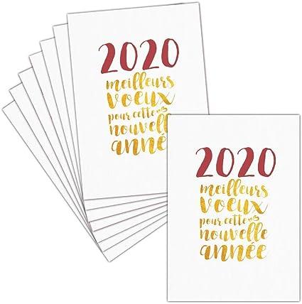 carte meilleurs voeux 2020 Carte de Voeux 2020 — 8 Cartes Postales ➽ 3 Formats Dispos