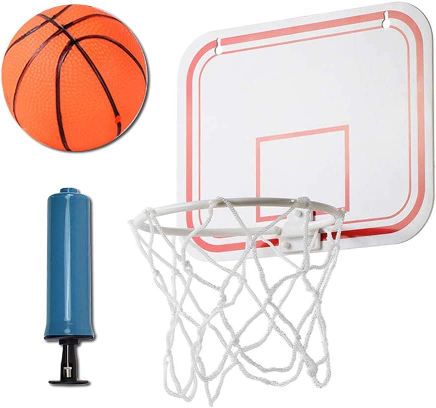 Mini Kits de aro de Baloncesto, Combo Portátil de Baloncesto/Tablero/aro para Adultos y Niños