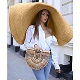LILICHIC Fashion Large Sun Hat, Beach Anti-UV Sun
