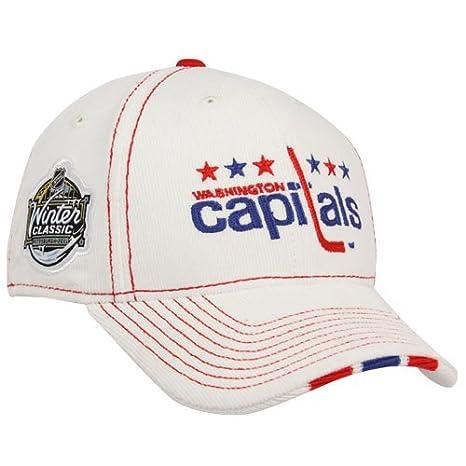 d84acbb2c76 Image Unavailable. Image not available for. Color  Reebok Washington  Capitals White 2011 NHL Winter Classic Center Ice Corduroy Flex Fit Hat