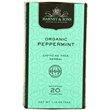 Harney & Sons Herbal Tea, Organic Peppermint, 20 Tea Bags