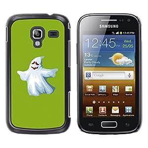 TECHCASE**Cubierta de la caja de protección la piel dura para el ** Samsung Galaxy Ace 2 I8160 Ace II X S7560M ** Ghost White Funny Scary Cute Ku Klux Klan