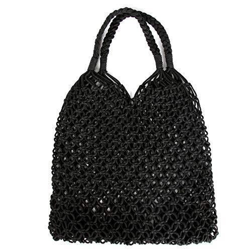 - Women's Straw Handbags Large Summer Beach Tote Woven Round Handle Shoulder Bag Mesh Beach Bag for Women
