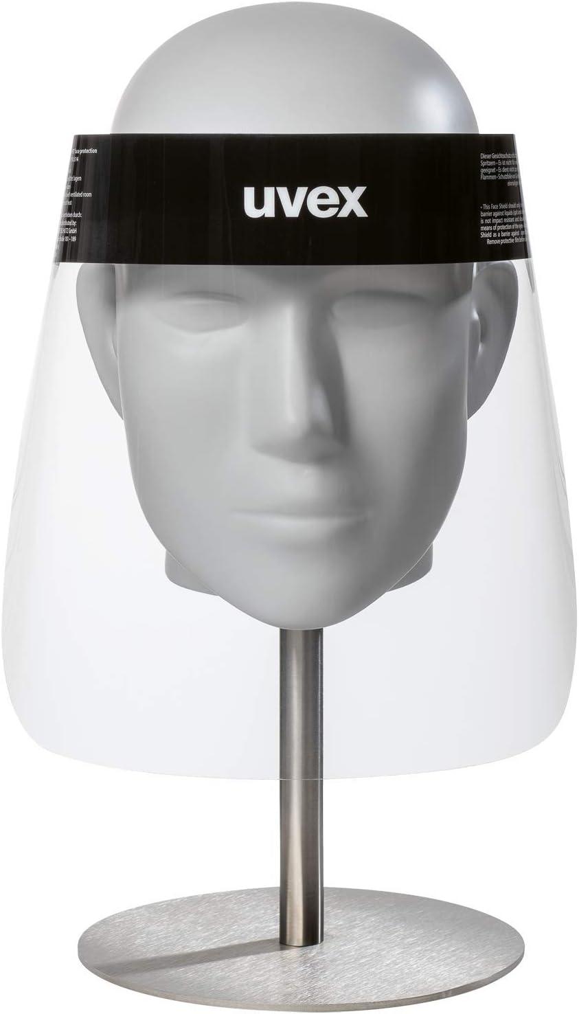 uvex 9710 Visera Protectora para la Cara - Mascara Protectora Facial - Desechable - Transparente - para Hombres y Mujeres