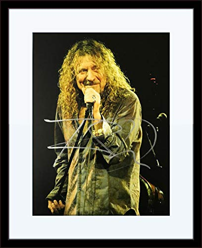 Robert Plant Autograph - Framed Robert Plant Autograph with Certificate of Authenticity
