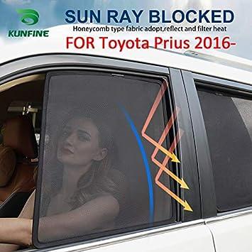 KUNFINE Parasol magnético de Malla para Ventana de Auto, Ajuste Personalizado para Toyota Prius 2016 2017 2018 2019 (2 Pcs Front): Amazon.es: Coche y moto