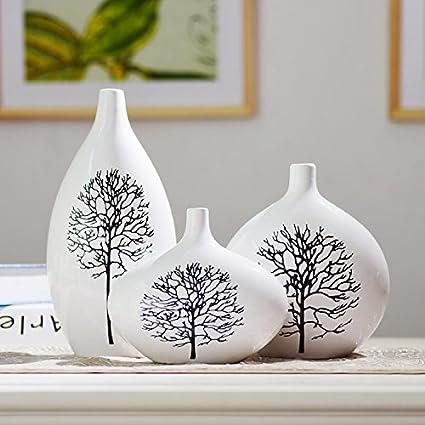 Lx.AZ.Kx Soprammobili Soggiorno Mobile Tv ornamenti decorazioni moderne  vasi di ceramica artigianato 3 piece Set di betulle