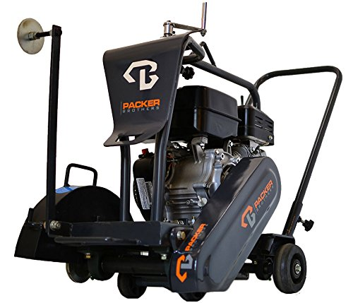Packer Bros PB14H55 Walk Behind Concrete Saw, Honda Powered 5.5 hp OHV Motor, 14