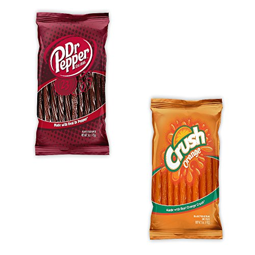 Kenny's Juicy Twists - Dr. Pepper and Orange Crush - Variety 2 Pack - Nt. Weight 10 oz - Fresh Product (Dr Pepper Gift Baskets)