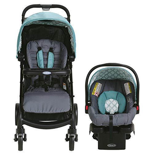 51FJQ2bksUL - Graco Verb Travel System | Includes Verb Stroller And SnugRide 30 Infant Car Seat, Merrick