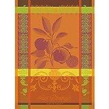 Garnier Thiebaut, Oranges Sanguine French Woven Kitchen / Tea Towel, 100 Percent Cotton