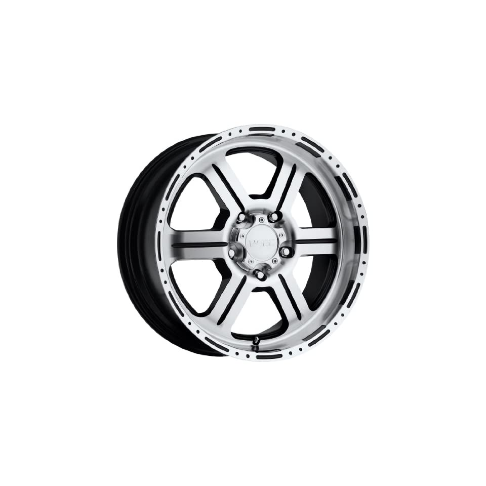 V Tec Off Road 20 Machined Black Wheel / Rim 8x6.5 with a 18mm Offset and a 123 Hub Bore. Partnumber 326 2981GBMF18