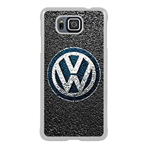 Popular Sale Samsung Galaxy Alpha Case,VW LOGO White Customized Picture Design Samsung Galaxy Alpha Phone Case