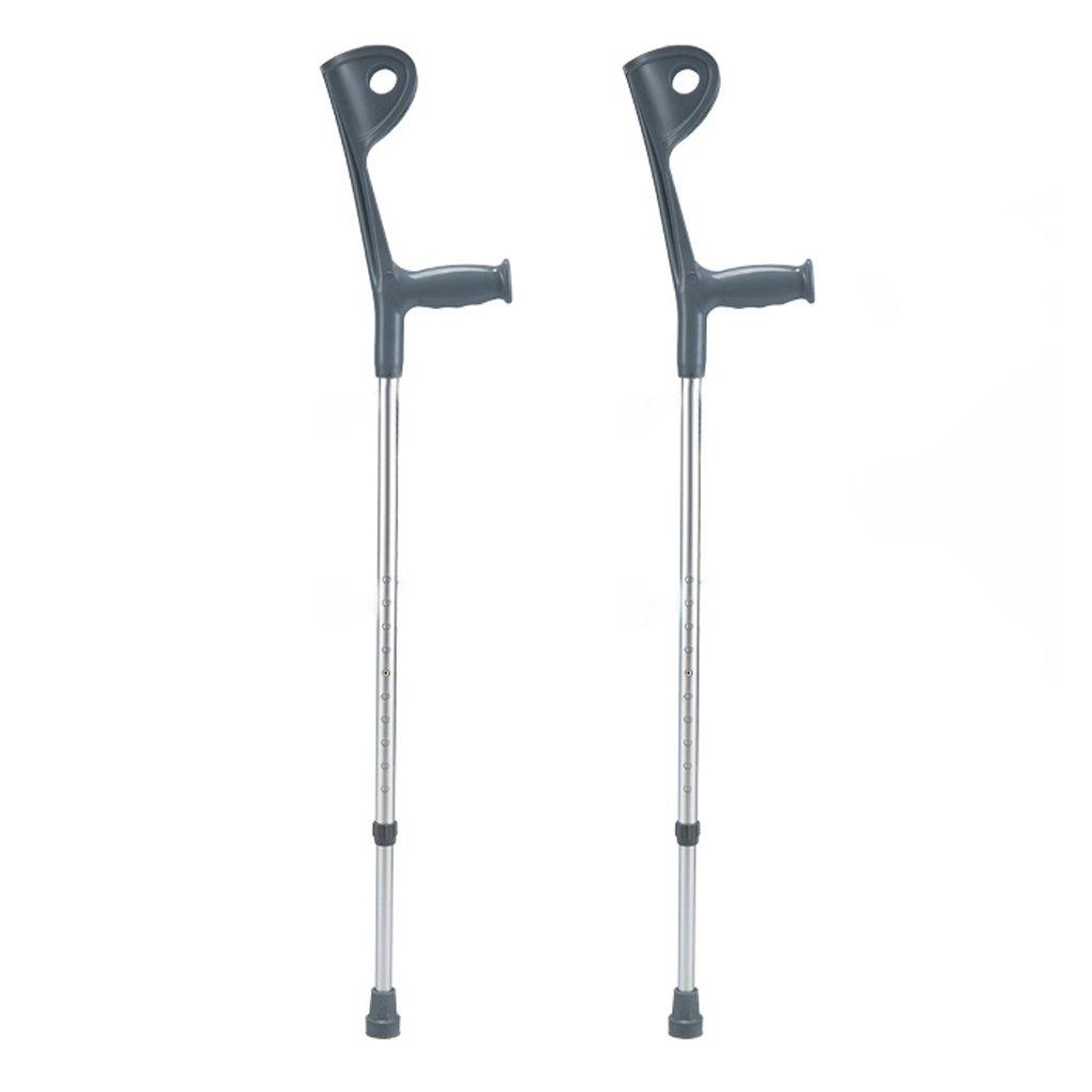 TangMengYun 高さ調節可能な松葉杖、軽量の伸縮性のあるアルミニウムグレーの松葉杖 B07BJ6RF4L