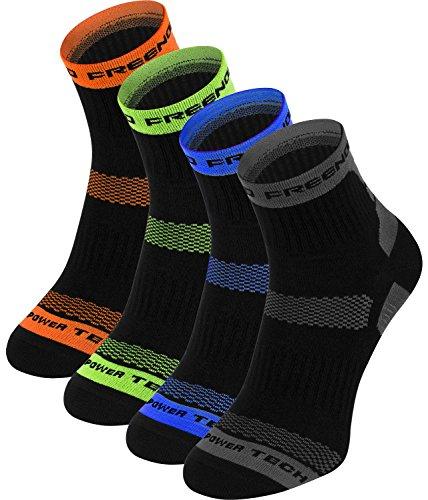 Funktionssocken Thermo Socken 4 PAK Radsport Running Fitness (4 PACK shwarz, 43-46)