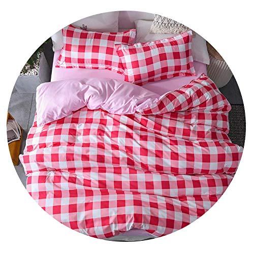 rainwater-Shop Mixed Color Cartoon Style 4pcs Bedding Sets Bed Sheet Duvet Cover Pillowcase,7,Twin 2 Size