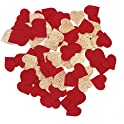 Nicrolandee Wedding Rose Gold Glitter Party Suede Heart Table Confetti