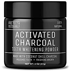Activated Charcoal Teeth Whitening Powder - Pure Beauty Award Winning Product By Pro Teeth Whitening Co.