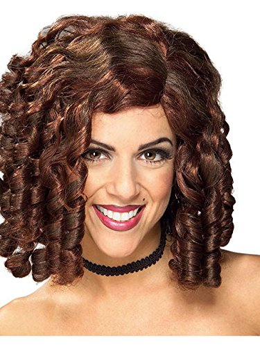 Women's Brown Banana Curl Wig One (Banana Curls Costumes Wig)
